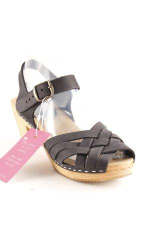 Moheda Riemchen-Sandaletten schwarz-camel extravaganter Stil