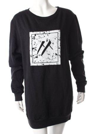 Mojo Snowboarding Sweatshirt schwarz Logoprint