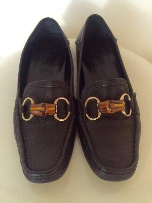 Gucci Mocassins noir cuir