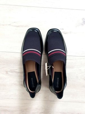 Mokassin / Loafer / Slipper mit Stoff