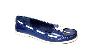 Graceland Mocassins bleu foncé faux cuir