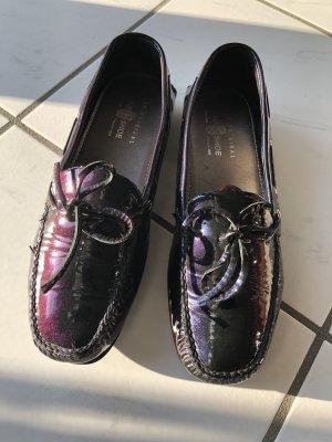 Car Shoe Mocassins violet foncé-vert foncé