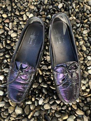 Car Shoe Moccasins dark violet-dark green