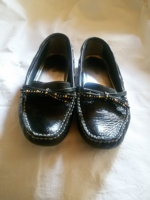 Guess Moccasins black leather