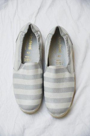 vitaform Mocassino bianco-grigio chiaro Pelle