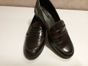 Zara Mocassins noir-brun rouge faux cuir