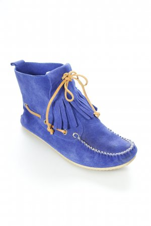 Mokassins blau-braun Boho-Look