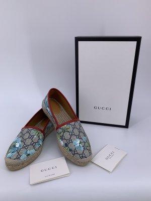 Gucci Mocassino beige-blu fiordaliso