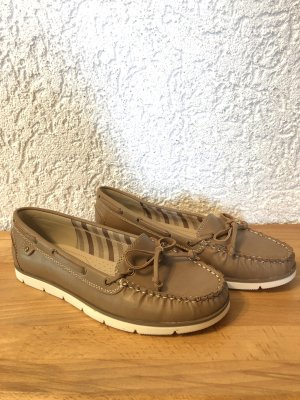 Mokassins in beige Gr.40