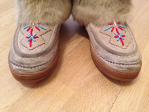 KMB Fur Boots multicolored