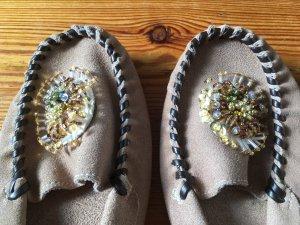 Mokassins, Indianer, Flache Schuhe, Doppelschuhglück