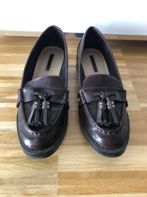 Zara Mocassins bordeaux