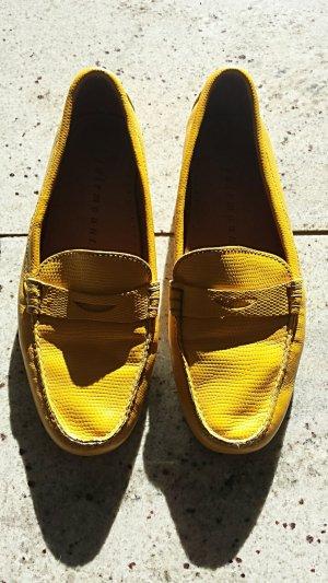 Mocassins jaune cuir