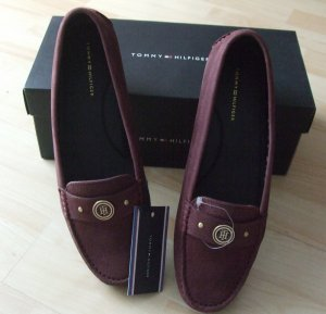 Tommy Hilfiger Mocassins bordeau cuir
