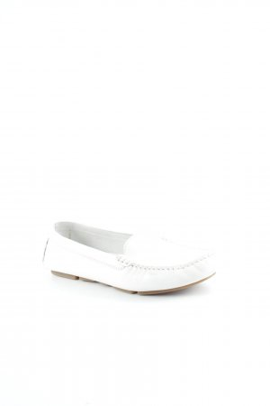 Mocassins blanc style décontracté