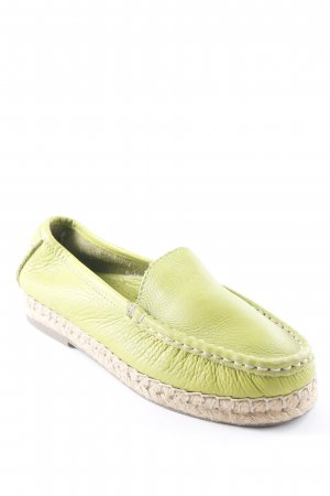 Mocassino verde prato stile casual