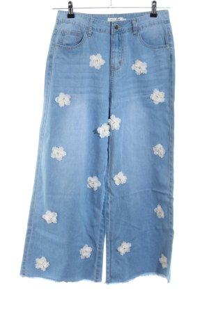Molly bracken 7/8 Length Jeans flower pattern jeans look