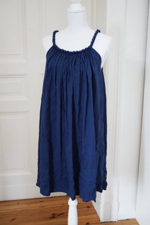 Molly Bracken Kleid 100% Viskose dunkelblau ONE SIZE
