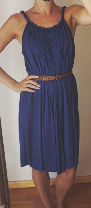 Molly Bracken Kleid blau Sommer Herbst Dunkelblau 100% Viskose S wie neu