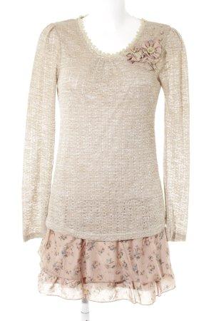 Molly bracken Langarmkleid beige-altrosa florales Muster Casual-Look