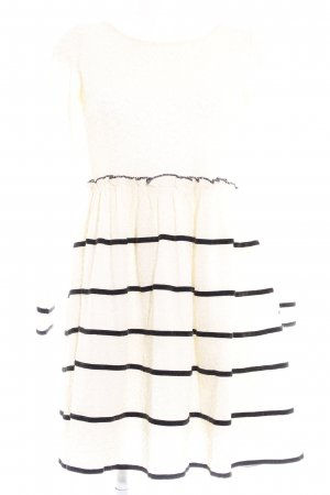 Molly bracken Langarmkleid creme-schwarz Casual-Look