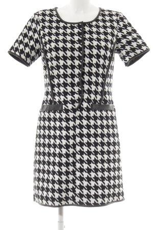 Molly bracken Minikleid weiß-schwarz Hahnentrittmuster Elegant