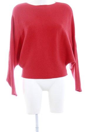 Molly bracken Maglione oversize rosso mattone stile casual