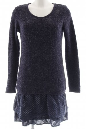 Molly bracken Strickkleid dunkelblau Punktemuster Casual-Look