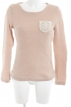 Molly bracken Strickpullover nude-wollweiß Casual-Look