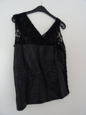 Molly bracken Top de encaje negro