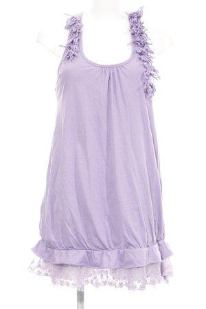 Molly bracken Robe à bretelles mauve-lilas motif de fleur style simple