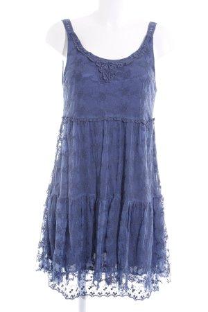 Molly bracken Trägerkleid stahlblau florales Muster Casual-Look