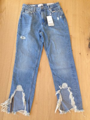 MOM fit Jeans mit franzen