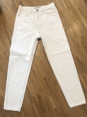 Mom-fit Jeans - Weiß
