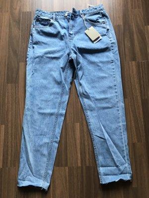 Pull & Bear Pantalon taille haute bleu clair-bleu azur