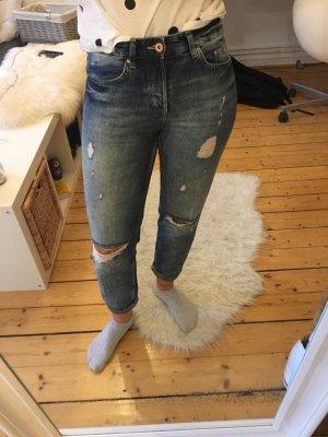 H&M Jeans boyfriend azzurro-grigio ardesia