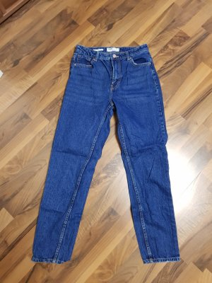 Bershka High Waist Jeans blue
