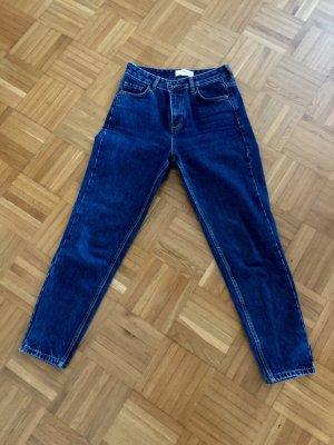 Mango Hoge taille jeans blauw