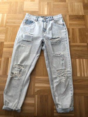 MOM Jeans, Gr. 38, hellblau