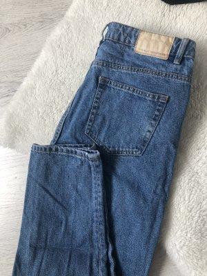 Mom Jeans High Waist Blau Zara