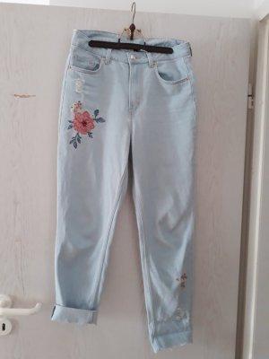 Mom Jeans Highwaist H&M Größe 38 Blumen