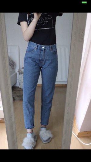 Pull & Bear Jeans taille haute bleuet-bleu acier