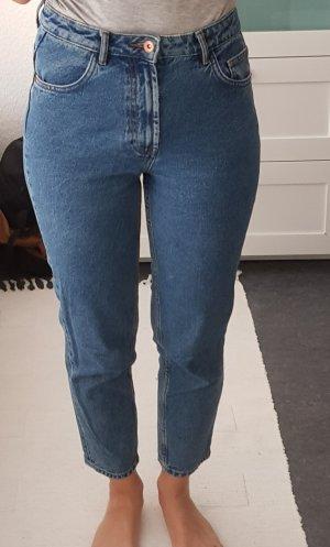 Mom Jeans in mittelblauer Waschung