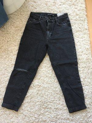 Mom Jeans in schwarz