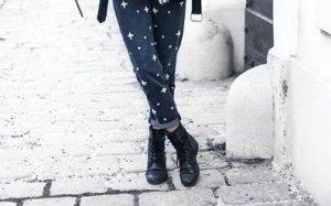 Mom Jeans mit Perlen