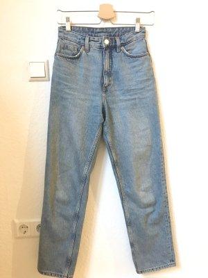 Monki Hoge taille jeans azuur-lichtblauw Katoen