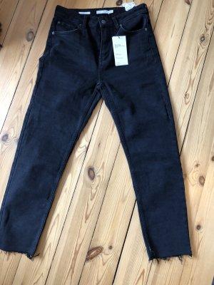 Bershka Jeans carotte noir