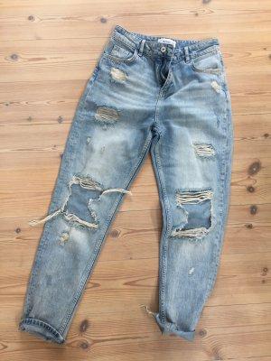 Mom Jeans von Mango im Used Look