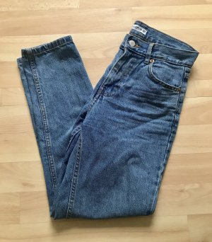 Pull & Bear Hoge taille jeans staalblauw