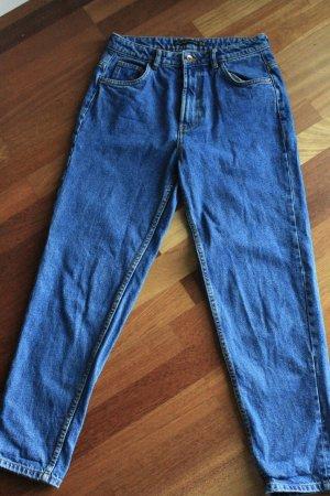 Zara Trafaluc Jeans boyfriend bleu foncé-bleu coton